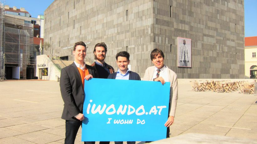 Vincent Scheifinger, Bertrand Kaufmann, Branko Markovic und Florian Bösenkopf sind vor wenigen Monaten mit Iwondo.at Online gegangen und haben jetzt an einen polnischen Investor verkauft. © Iwondo