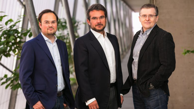 Das USound-Gründer-Trio Jörg mit Jörg Schönbacher, Andrea Rusconi-Clerici und Ferruccio Bottoni. © Robert Frankl