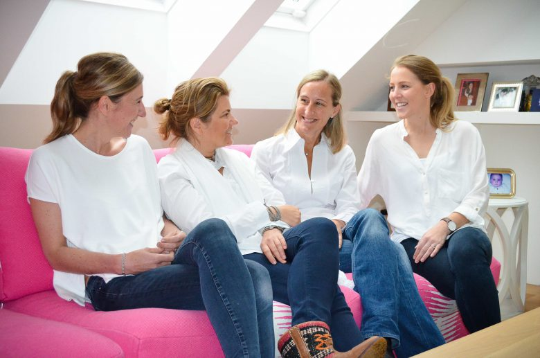 Das Ana Avenue Team v.l.n.r.: Clara Haffner, Katharina Sigari-Majd, Valerie Ferencic und Vera Ratzinger. © Ana Avenue