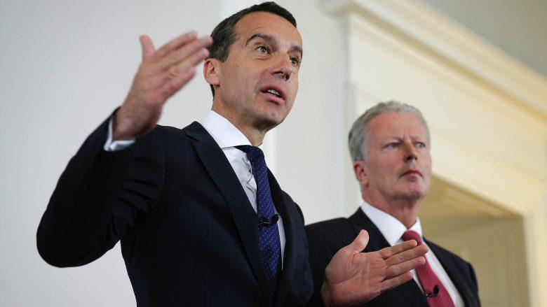 Bundeskanzler Christian Kern (SP) und Vizekanzler Reinhold Mitterlehner (ÖVP). © BKA/Andy Wenzel