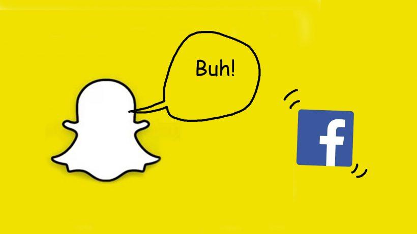 Buuh! © Snapchat, Facebook, Montage Lisa Weishäupl
