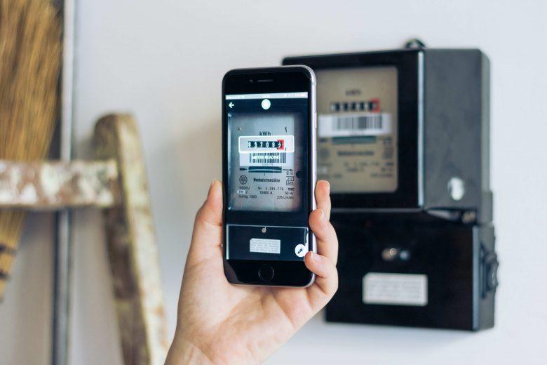 Anyline-App beim Ablesen des Stromzählers. © Anyline