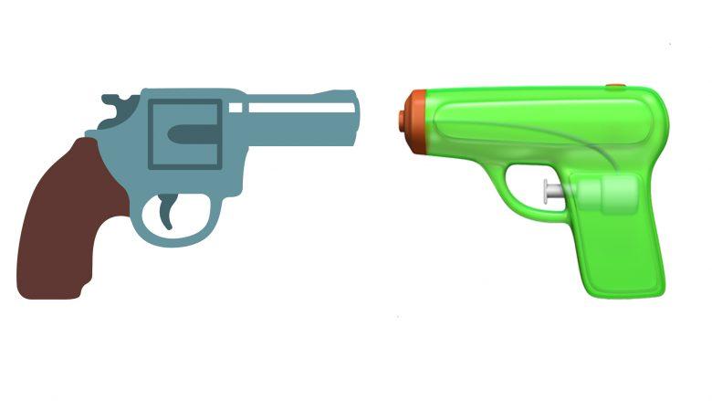 Apple ersetzt das Revolver-Symbol durch eine Spritzpistole. © Apple