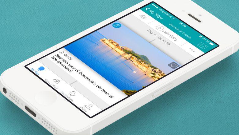 Journi-App am iPhone. © Journi