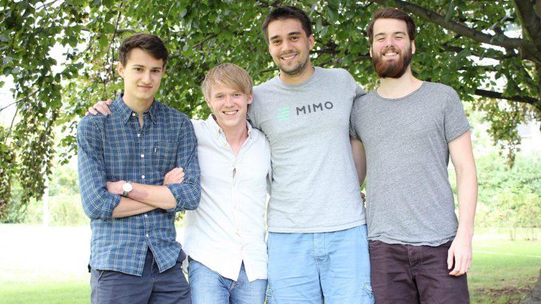 Lorenz Schimik (CPO), Henry Ameseder (COO), Johannes Berger (CEO) und Dennis Daume (CTO) von Mimo. © Mimo