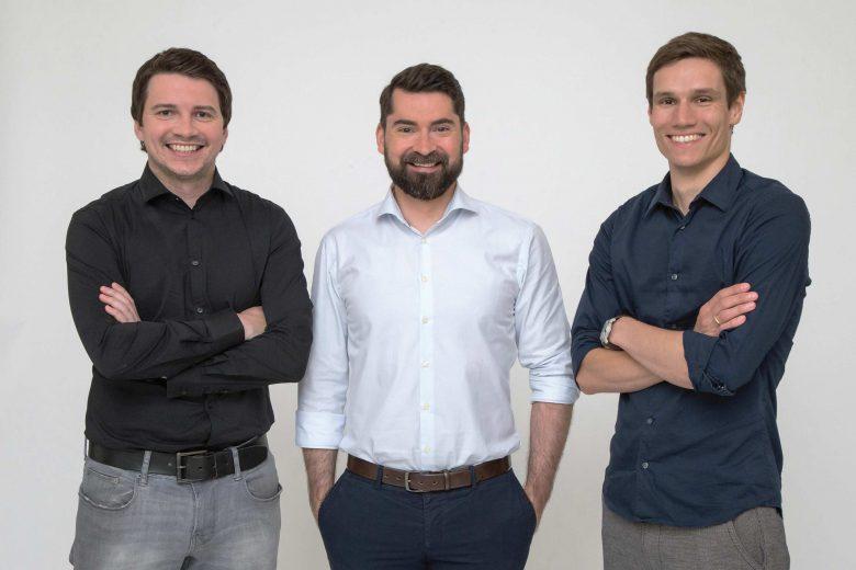Die cashpresso-Gründer Jörg Skornschek, Daniel Strieder und Michael Handler. © cashpresso