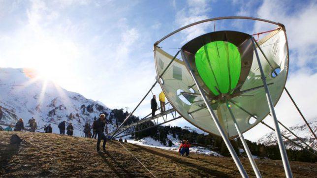 DIe Testanlage der Wolkenkammer in Obergurgl. © Neuschnee