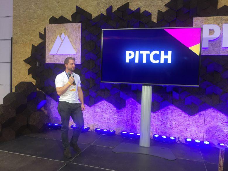 Simon Hönegger, Co-Gründer von guh, pitcht sein Unternehmen