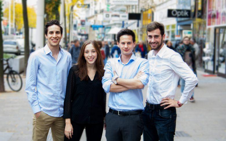 Das Startablish Team v.l.n.r.: Paul Zogmann, Anna Ge, Sebastian Taucher, Phillip Fickl © Startablish