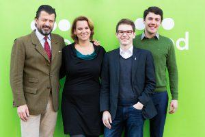Claudia Winkler (Mitte) mit den Co-Gründern. (© Goood)