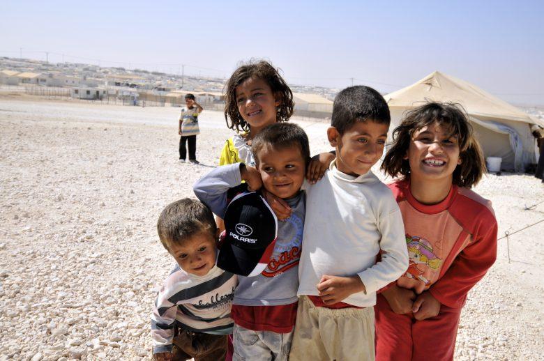 Das Zaatari Flüchtlingslager in Jordanien beherbergt 80.000 syrische Flüchtlinge und ist damit mittlerweilse die viertgrößte Stadt Jordaniens © Foreign and Commonwealth Office