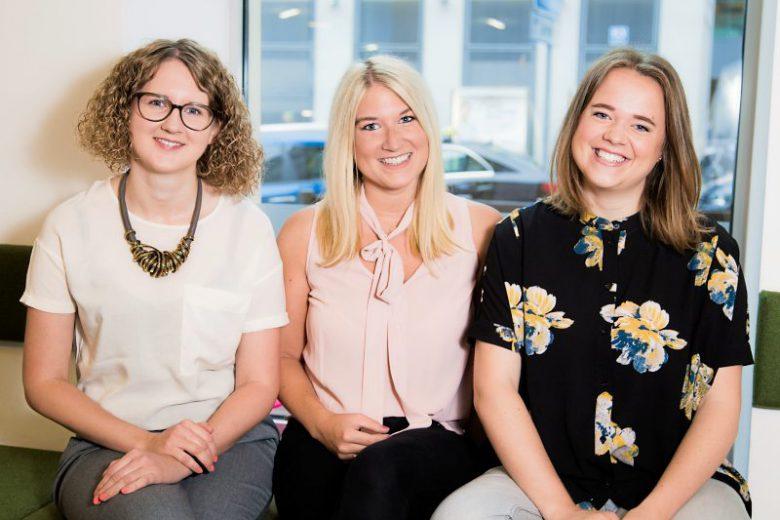 Nina Wöss, Tanja Sternbauer und Lisa Fassl (von links) haben auf Basis der Ergebnisse des Female Founders Report ein Visionspapier verfasst © Female Founders