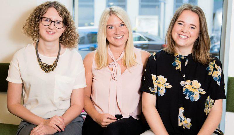 Die Female-Founders-Gründerinnen Nina Wöss, Tanja Sternbauer und Lisa Fassl (von links) © Tamás Künsztler