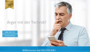 Helferline ist kostenlos erreichar © Helferline