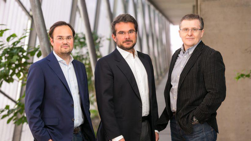 Die Gründer von uSound: Jörg Schönbacher, Andrea Rusconi-Clerici und Ferruccio Bottoni @usound