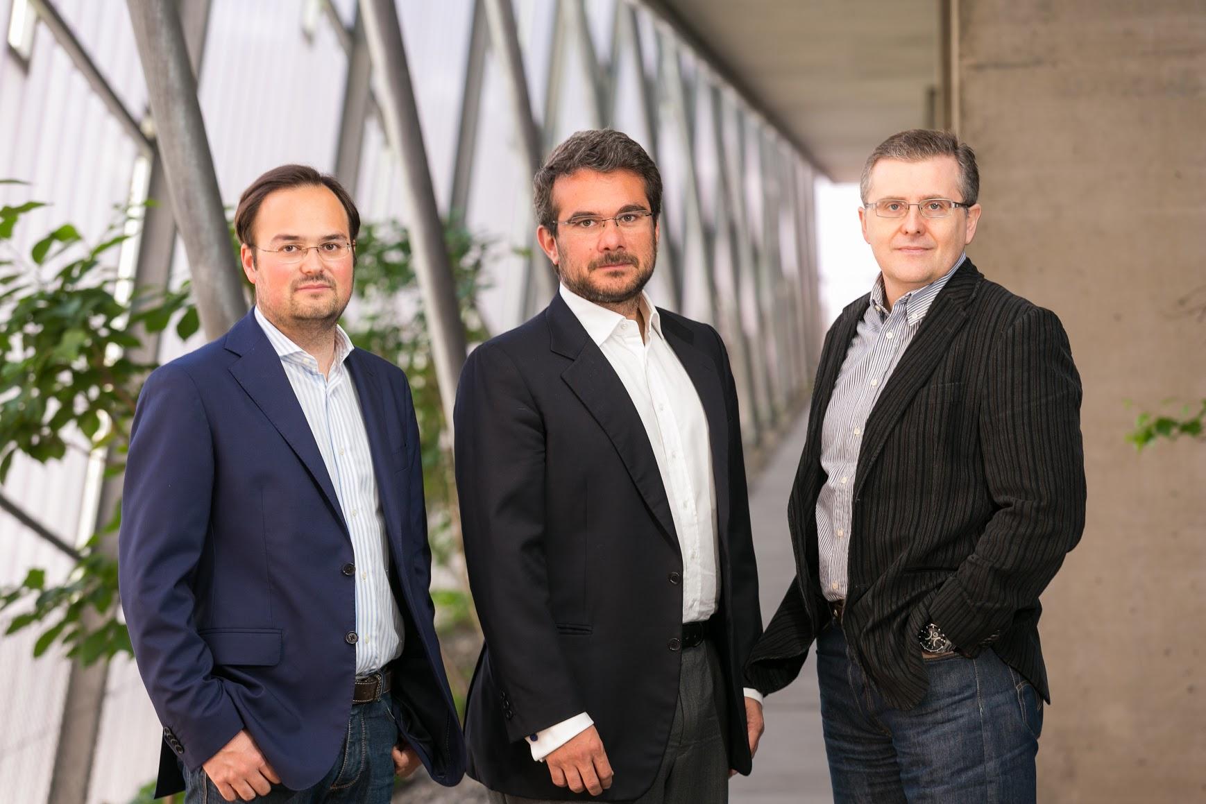 Die Gründer von USound: Jörg Schönbacher, Andrea Rusconi-Clerici und Ferruccio Bottoni. © USound