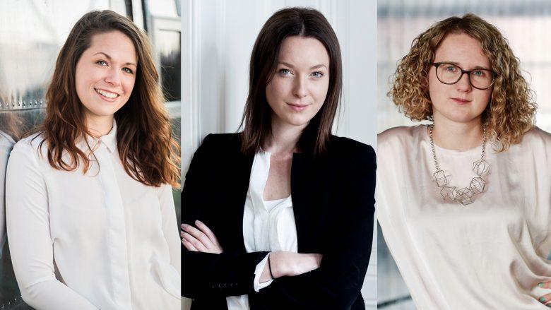 Bianca Busetti von journi, Maggie Childs von Metropole und Nina Wöss von Speedinvest. © journi/Metropole/Speedinvest