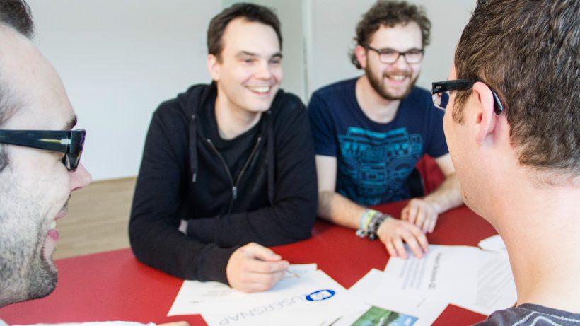 Das Usersnap-Team rund um die Gründer Florian Dorfbauer und Josef Trauner. © Usersnap