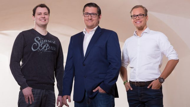 Die Gründer Martin Luftensteiner, Hannes Freudenthaler, Martin Behrens. © presono/Werner Harrer
