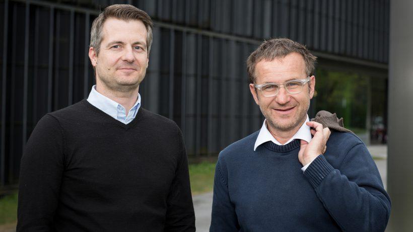 CubileHealth-Gründer Karl Fritscher und Johannes Hilbe. © Flo Lechner