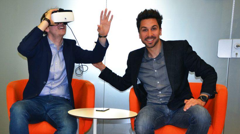 Philipp Slapar (mit Brille) und Stefan Ponsold (ohne Brille) von SunnyBag. © SunnyBag