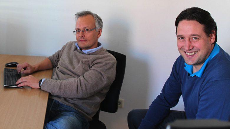 Die VisoCon-Gründer Michael Wolfgang (CTO) und Andreas Kröpfl (CEO). ©VisoCon