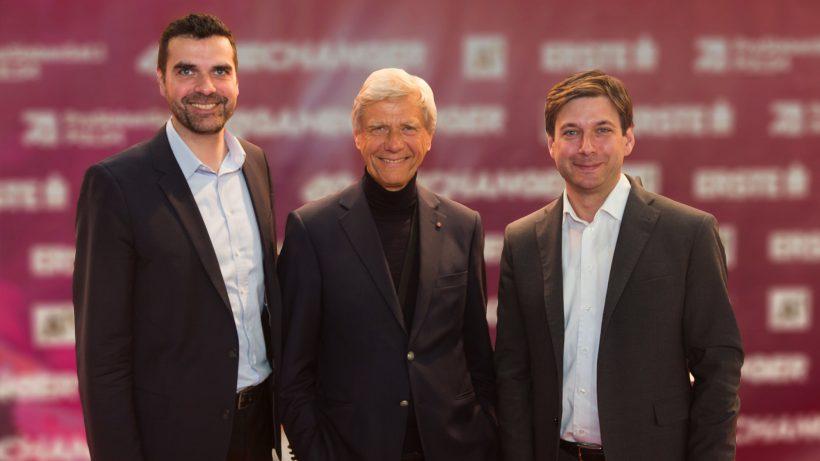 Die beiden kompany-Gründer Bernhard Hölzl und Russell Perry mit Hermann Hauser (Mitte). © kompany