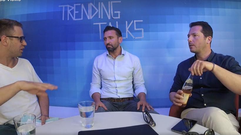 Bastian Kellhofer (Trending Topics), Hassen Kirmaci, (weXelerate) und Martin Giesswein (Talent Garden) im Gespräch. © Trending Topics