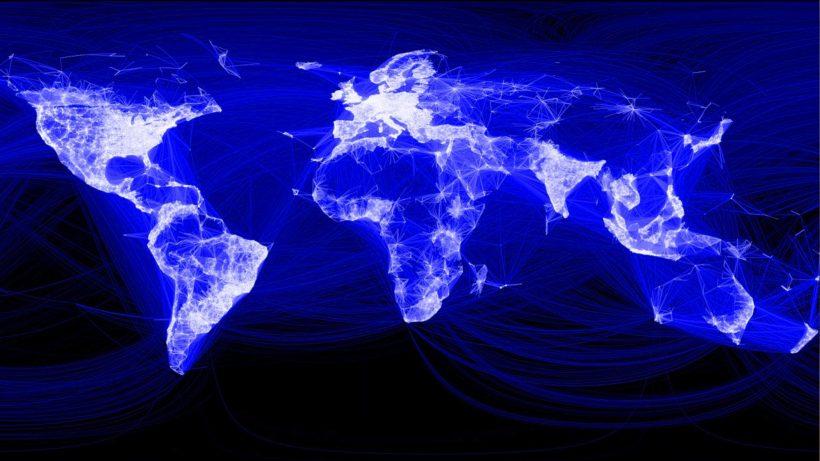 Facebook: China bleibt weitgehend ein schwarzer Fleck auf der Karte. © Facebook
