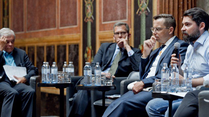 Im Parlament wurde gestern die Innovationskraft der Finanzwelt in Europa diskutiert. © Claudio Farkasch.