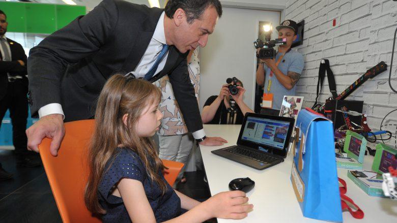 Bundeskanzler Kern besucht Learning Hub von Microsoft. © Microsoft Österreich