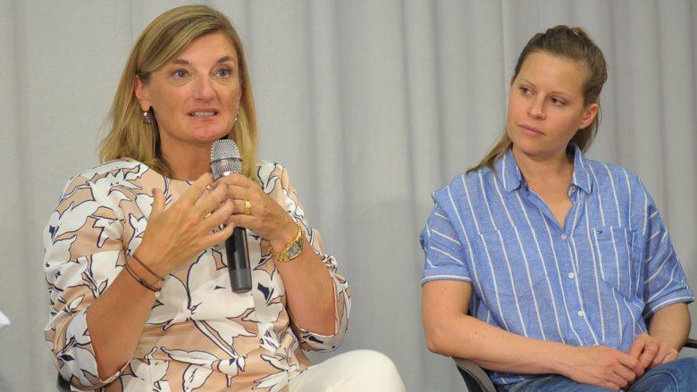Microsoft-Österreich-Chefin Dorothee Ritz und Katharina Klausberger von Shpock. © Microsoft Österreich