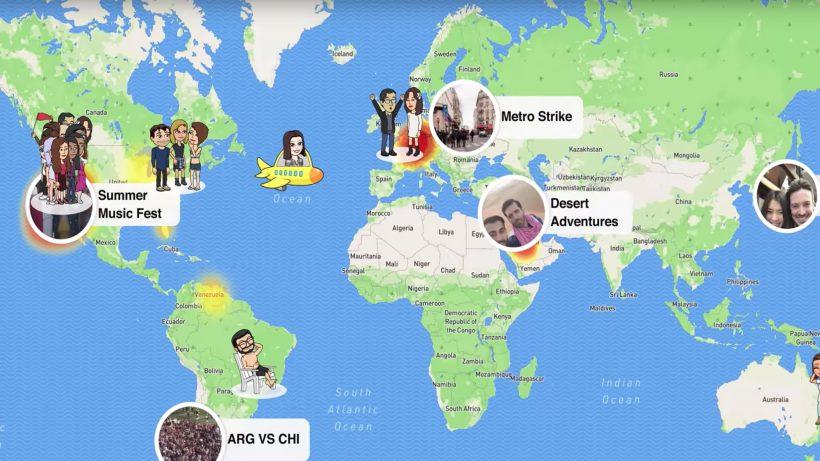Die Snap Map zeigt, wo die anderen sind. © Snap Inc.