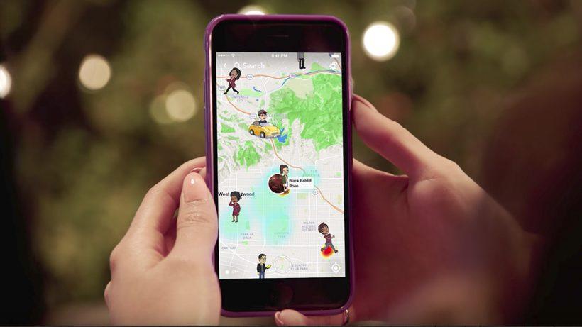 Die Snap Map. © Snap Inc.