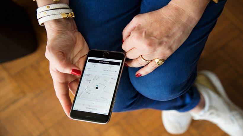 Uber am Smartphone. © Uber