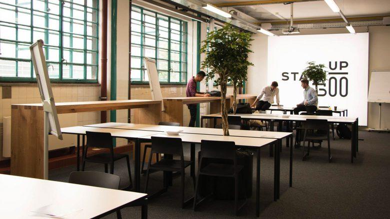 Die factory300 lädt bereits zum Arbeiten ein. © Startup Live