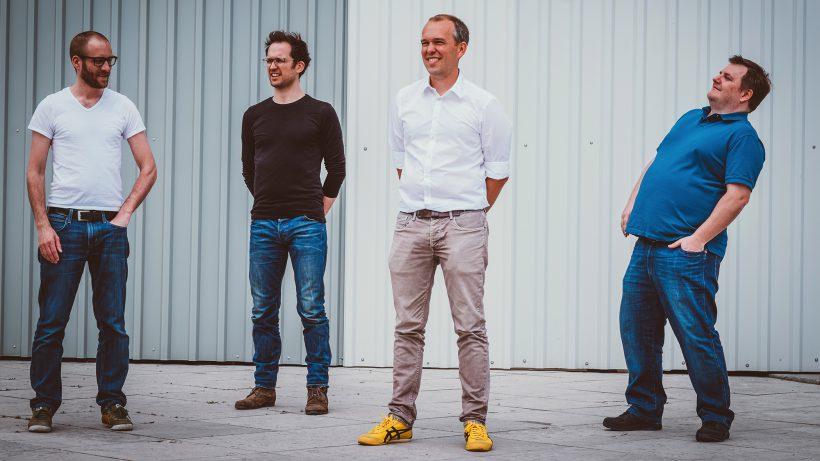 Das mysugr-Gründerteam: Fredrik Debong, Gerald Stangl, Frank Westermann und Michael Forisch. ©mysugr/Manuel Gruber