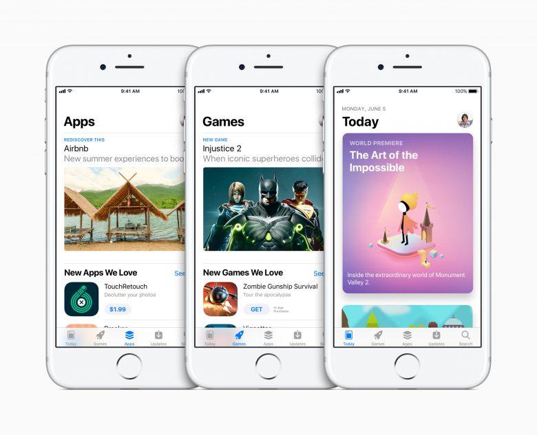 Der neue App Store am iPhone. © Apple