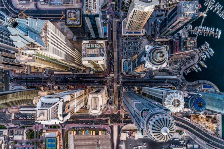 """1. Platz Kategorie """"Urban"""". © bachirm/Dronestagram"""