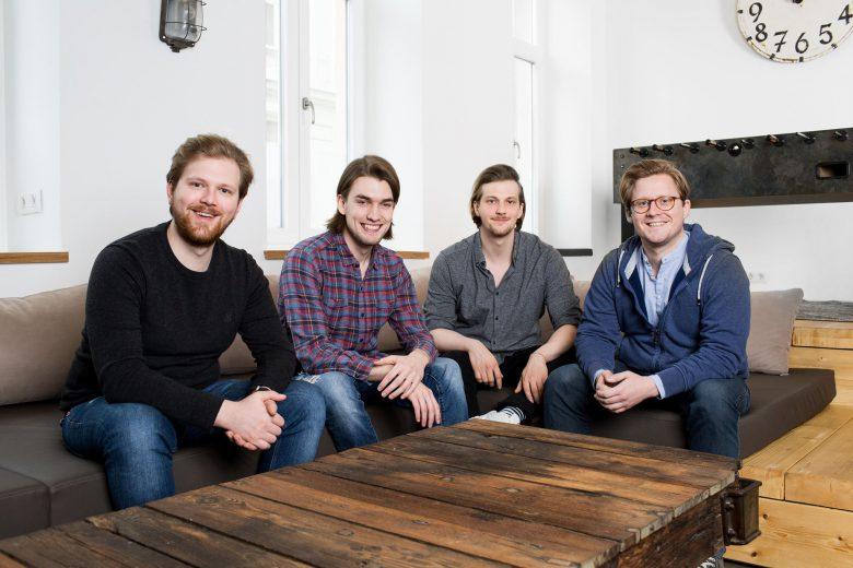 Die Gustav-Gründer Benjamin Bartakovics (CFO), Jan Jedlinski (CEO), Daniel Bartakovics (CPO) und Michael Ströck (CTO). © Gustav