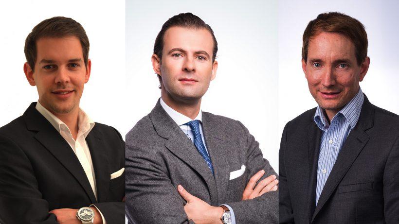 Die drei von Apex Ventures: Stefan Haubner, Christoph Kanneberger und Andreas Riegler. © Apex Ventures/Montage Trending Topics