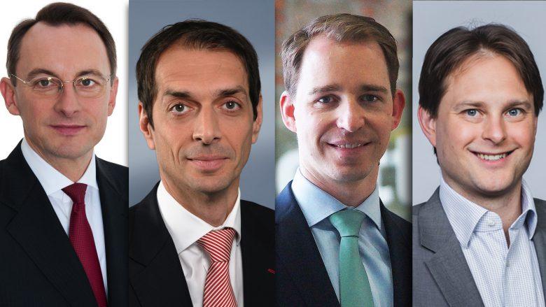 Rudolf Krickl (PwC), Thomas Gabriel (Ernst & Young) Stephan Karigl (Deloitte), Michael Petritz (KPMG). © PwC, EY, Deloitte, KPMG, Montage: Trending Topics