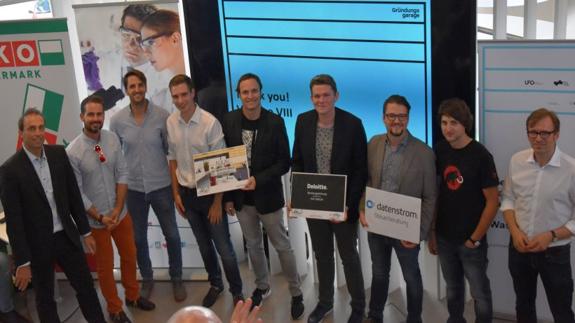 Das Cuboid-Team bei der Preisverleihung. © Gründungsgarage