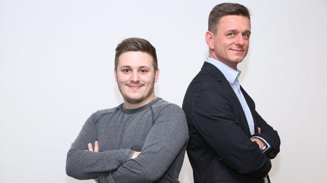 Die Frux-Gründer Patrick Kirchmayr und Dominik Sticht. © FRUX Technologies GmbH
