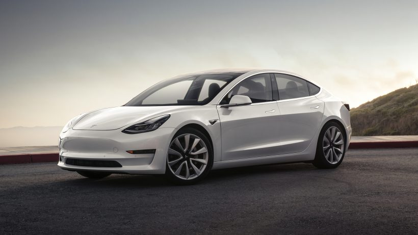 Das Model 3 in Weiss. © Tesla Motors