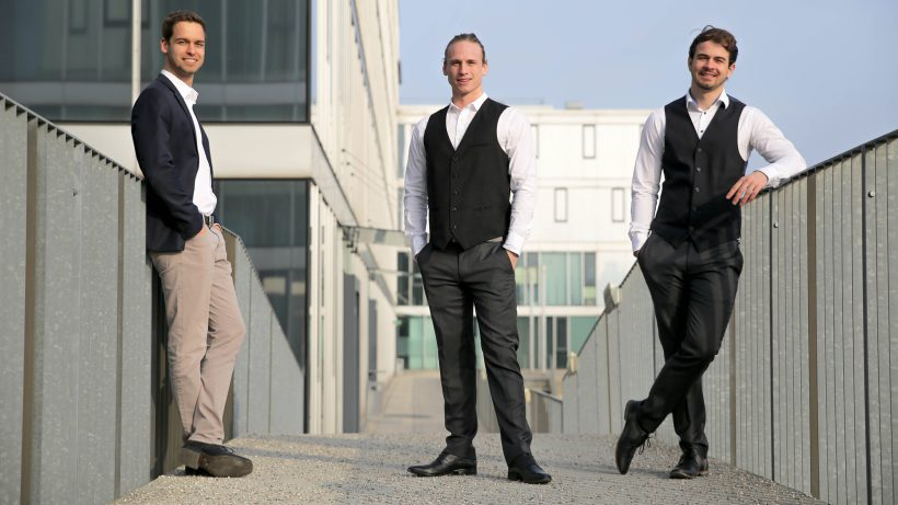 Ilja Jochum (CEO), Matthias Rotter (CSO) und Alexander Kniewallner (CTO) von Planery. © Planery