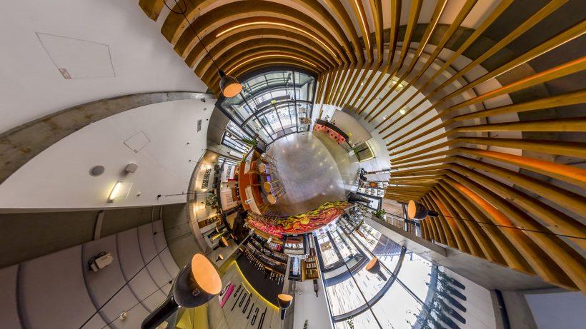 360-Grad-Ansichten im Hotel Zeitgeist Vienna. © Realonaut