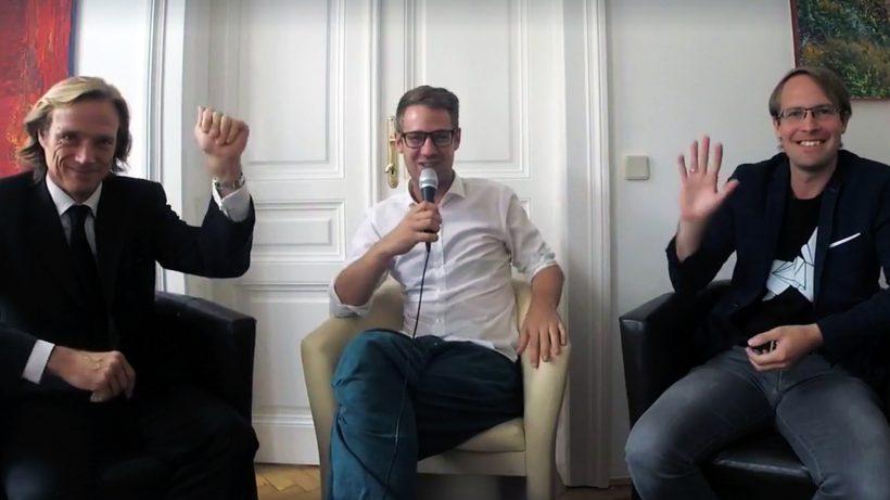 Daniel Keiper-Knorr (Speedinvest), Bastian Kellhofer (Trending Topics) und Peter Lasinger (capital300). © Trending Topics