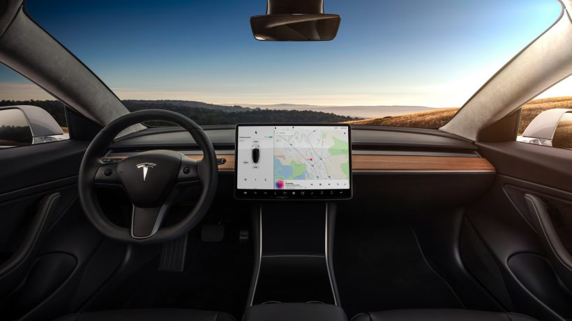 Das Model 3 von innen. © Tesla Motors