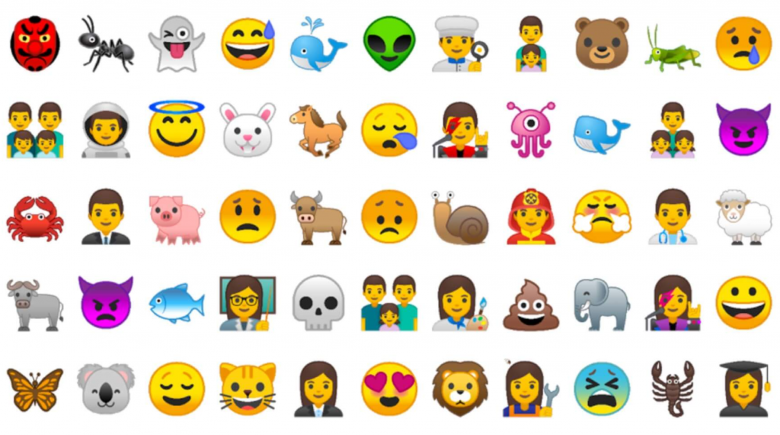 Neue Emojis für Android 8.0. © Google